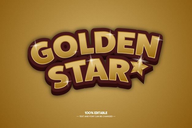 Style de texte étoile dorée
