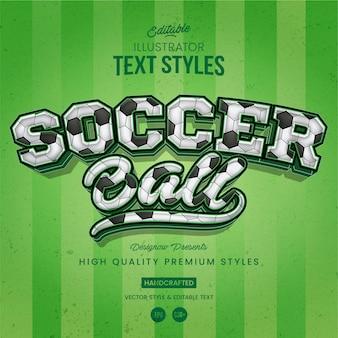 Style de texte de football