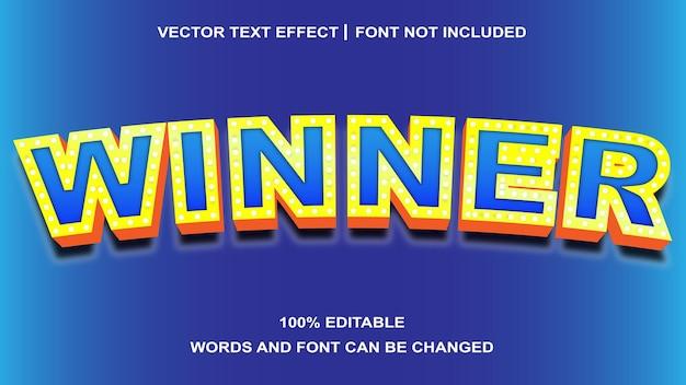 Style de texte gagnant effet de texte modifiable