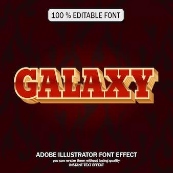 Style de texte de galaxie