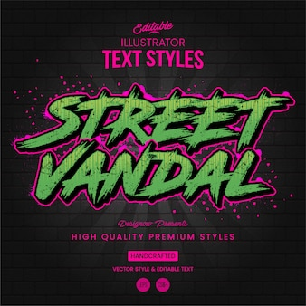 Style de texte graffiti