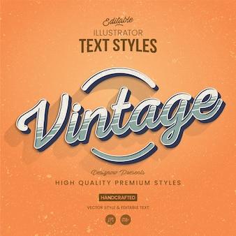 Style de texte illustrator vintage stripes