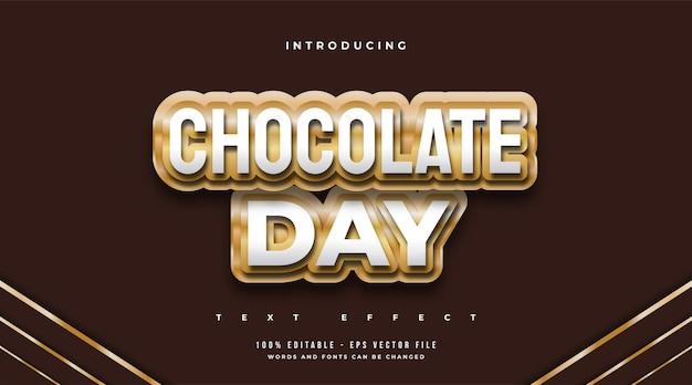 Style de texte de la journée mondiale du chocolat en effet chocolat