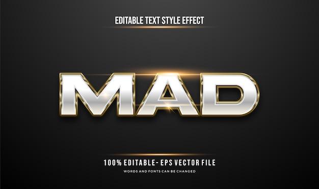 Style de texte modifiable d'effet métallique brillant et or de luxe.