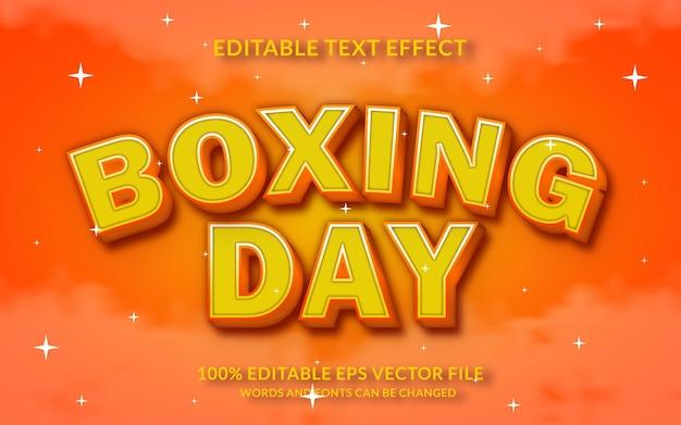 Style de texte modifiable effet de texte 3d boxing day