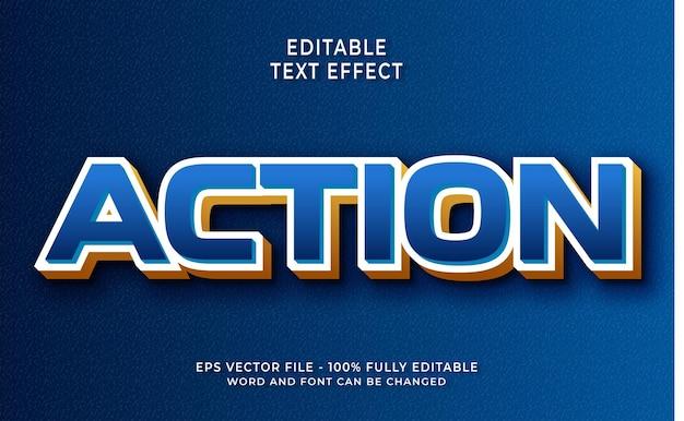 Style de texte modifiable d'effet de texte d'action 3d