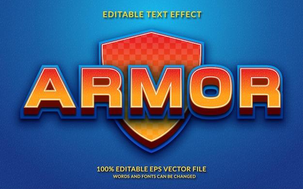 Style de texte modifiable d'effet de texte d'armure 3d