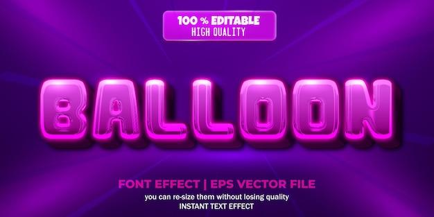 Style de texte modifiable d'effet de texte de ballon