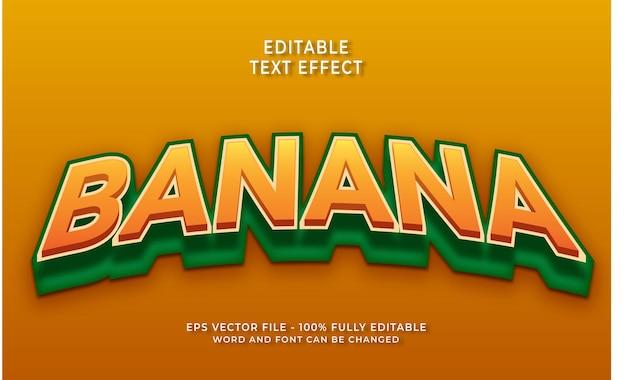 Style de texte modifiable effet de texte banane 3d