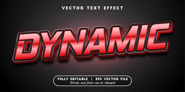Style de texte modifiable d'effet de texte dynamique