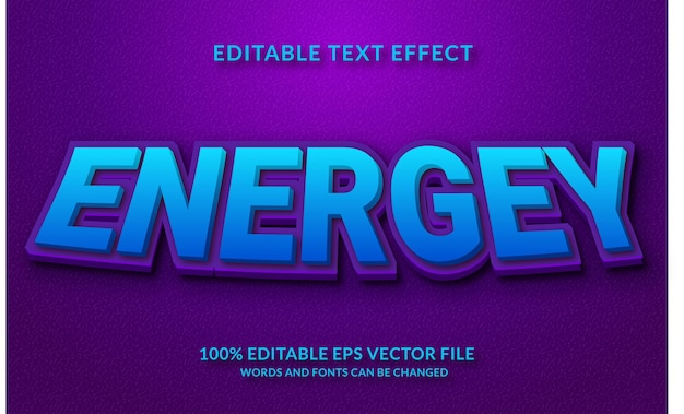 Style de texte modifiable effet de texte energey 3d