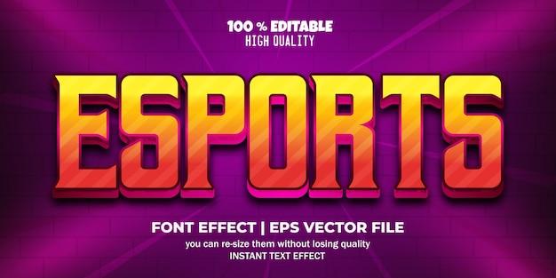 Style de texte modifiable de l'effet de texte esport