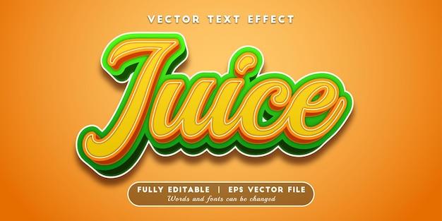 Style de texte modifiable d'effet de texte juice