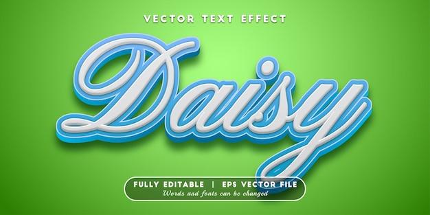Style de texte modifiable d'effet de texte en marguerite