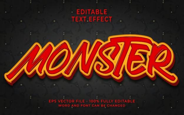 Style de texte modifiable effet de texte monstre 3d