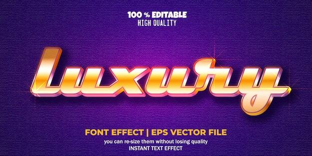 Style de texte modifiable par effet de texte de luxe
