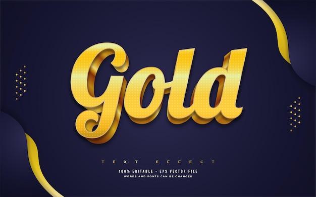 Style de texte en or de luxe avec effet en relief 3d. effet de style de texte modifiable