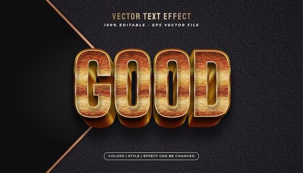 Style de texte en or de luxe avec effet en relief et texturé