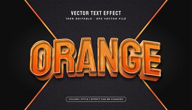 Style de texte orange gras avec des effets en relief et texturés