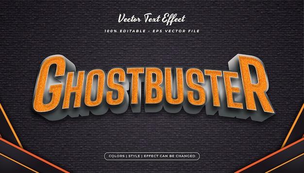 Style de texte orange et métallique avec effets en relief et texturés