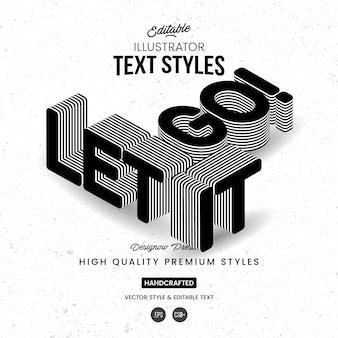 Style de texte en perspective 3d