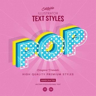 Style de texte pop art