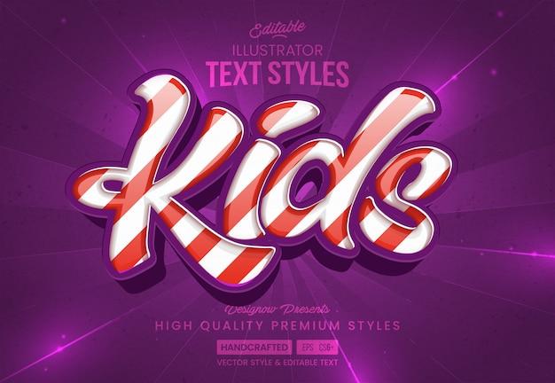 Style de texte pour enfants lollypop candy