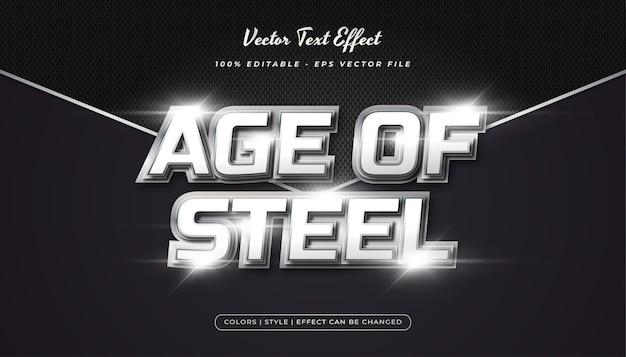 Style de texte réaliste 3d avec effet en relief dans le concept métallique