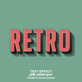Style de texte rétro 3d avec texture grunge de détail