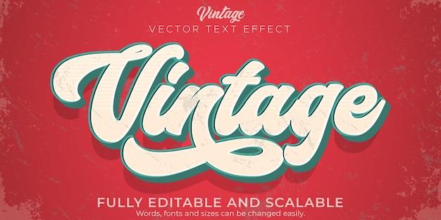 Style de texte rétro vintage effet texte modifiable