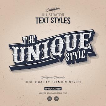 Style de texte rétro et vintage
