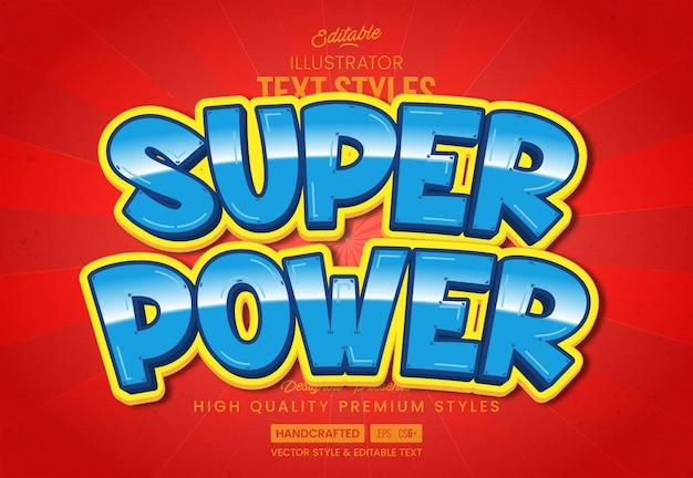 Style de texte super power