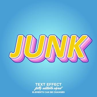 Style de texte superposé coloré et amusant