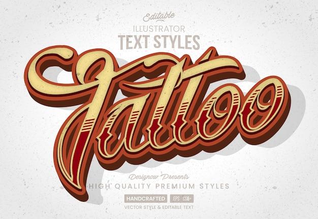 Style de texte de tatouage