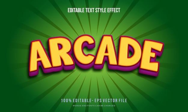 Style de texte thème enfants. effet de style de texte modifiable de vecteur.