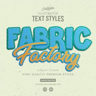 Style de texte en tissu