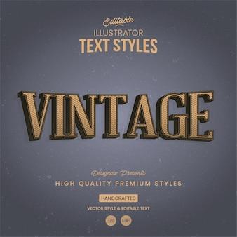 Style de texte vintage classic illustrator