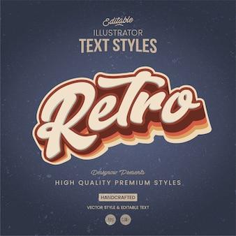Style de texte vintage illustrator