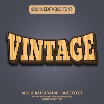 Style de texte vintage