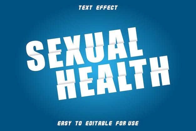 Style de tranche d'effet de texte modifiable de santé sexuelle