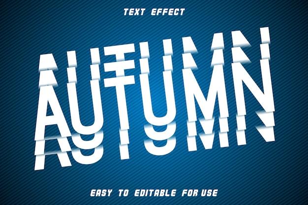 Style de tranche de relief d'effet de texte modifiable d'automne
