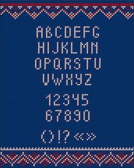 Style tricoté de style de pull moche de noël pour la conception