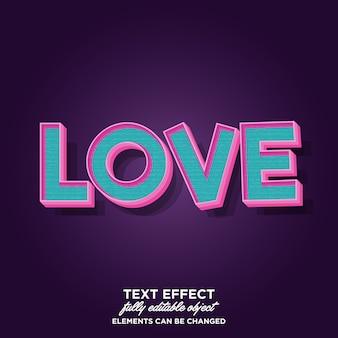 Style de typographie de dessin animé 3d pour bannière, autocollant et titre