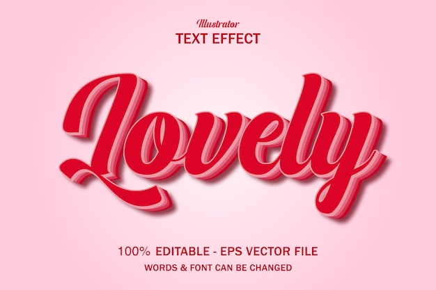 Style valentine bel effet de texte