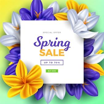 Style de vente de printemps réaliste