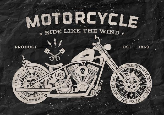 Style de vieille école de moto de course vintage.