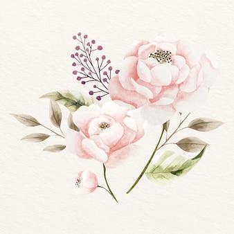 Style vintage de bouquet floral