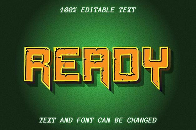 Style vintage d'effet de texte modifiable complet prêt