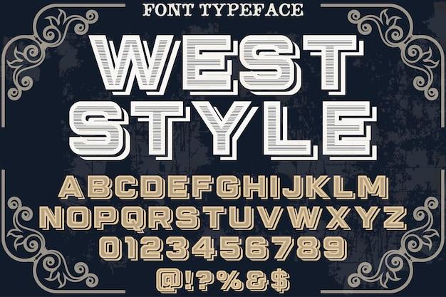 Style vintage fabriqué à la main à l'ouest