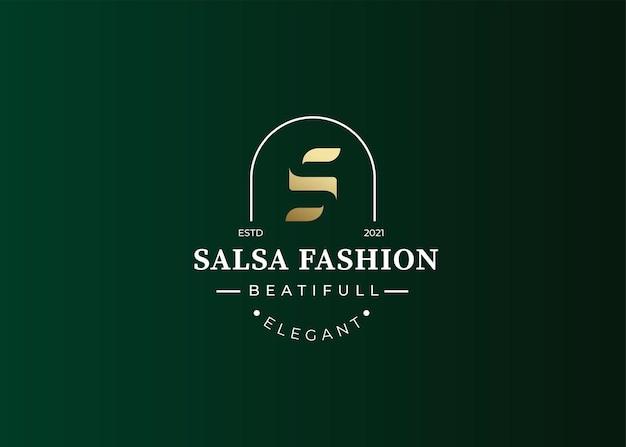 Style vintage de logo de luxe lettre s